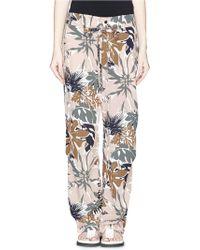 Rag & Bone 'Victoria' Floral Print Silk Pants multicolor - Lyst