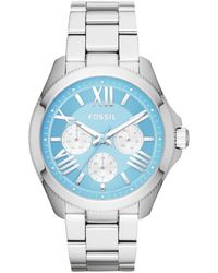Fossil | Womens Cecile Stainless Steel Bracelet Watch 40mm | Lyst