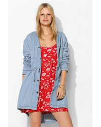 BDG - Hooded Chambray Anorak Jacket - Lyst