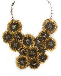 Deepa Gurnani Brass Feather Pendant Necklace - Lyst