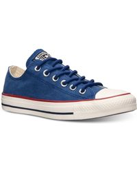 Converse Men'S Chuck Taylor Ox Washed Canvas Casual Sneakers From Finish Line - Lyst