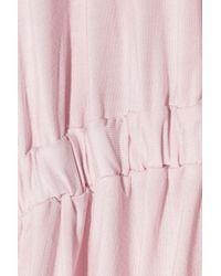 Cheek Frills - Lace-trimmed Slub Modal Robe - Lyst