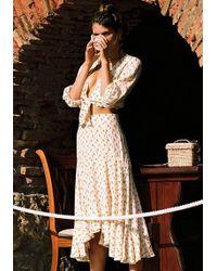 c01881ad46 Faithfull The Brand Celeste Wrap Skirt Leopard Print - Lyst