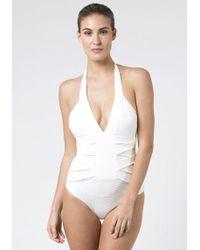 Biondi - Antibes Bandage Swimsuit - Lyst