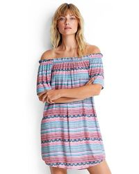 Seafolly - Stripe Off Shoulder Dress - Lyst