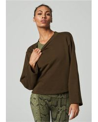 Varley - Weymouth Sweat Olive - Lyst