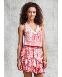 Poupette - Beline Dress Pink Butterfly - Lyst