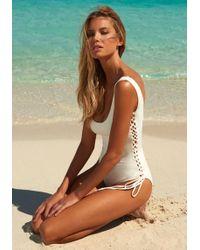Melissa Odabash - Cuba Swimsuit Cream - Lyst