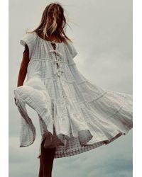Innika Choo - Peasant Dress Milk - Lyst
