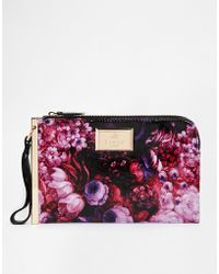 Lipsy Floral Clutch Bag - Lyst