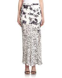 Haute Hippie Mixed Print Maxi Skirt - Lyst