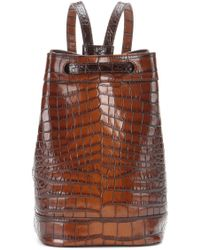 Tomas Maier - Embossed Leather Backpack - Lyst