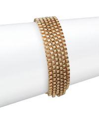 Anne Klein - Fair Lady Multi-row Bracelet/goldtone - Lyst