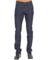 Ermenegildo Zegna Jeans Denim Used Slim Stretch blue - Lyst