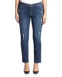 James Jeans Distressed Cigarette Jeans blue - Lyst