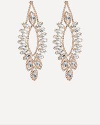Bebe - Crystal Chandelier Earrings - Lyst