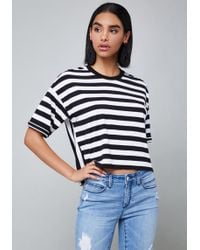 Bebe - Charlie Striped Top - Lyst