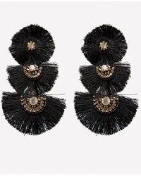 Bebe - Triple Fan Tassel Earrings - Lyst