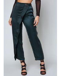 Bebe - Amy Cupro Wrap Trousers - Lyst