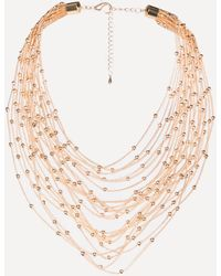 Bebe - Chain & Bead Necklace - Lyst