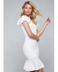 Bebe - Ruffle & Mesh Dress - Lyst