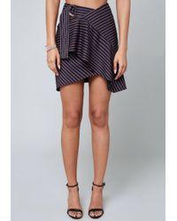 Bebe - Reese D-ring Ruffled Skirt - Lyst