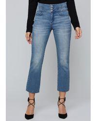 Bebe - Alysanne Flared Crop Jeans - Lyst