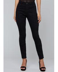 Bebe - Dayne Seamed Skinny Jeans - Lyst