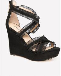 Bebe - Teri Fringe Wedge Sandals - Lyst