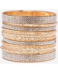 Bebe - Crystal Bangle Set - Lyst