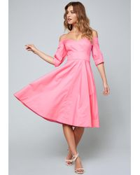 Bebe - Sami Cold Shoulder Dress - Lyst
