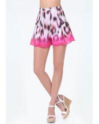 Bebe - Print Flouncy Shorts - Lyst