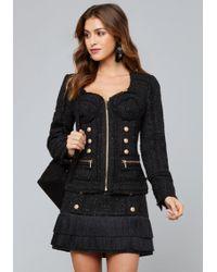Bebe - Soraya Tweed Bustier Jacket - Lyst