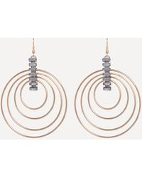 Bebe - Gold Multi-hoop Earrings - Lyst