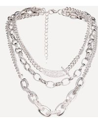 Bebe - Triple Chainlink Necklace - Lyst