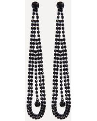 Bebe - Crystal Linear Earrings - Lyst