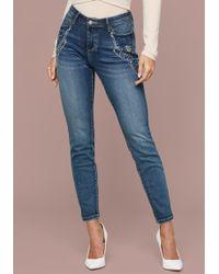 Bebe - Embellished Skinny Jeans - Lyst