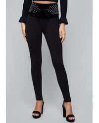 Bebe - High Waist Quilt Contrast Legging - Lyst