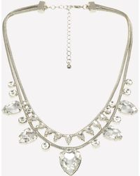 Bebe - Crystal 2-tier Necklace - Lyst