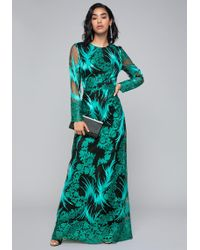 Bebe - Embroidered Mesh Gown - Lyst