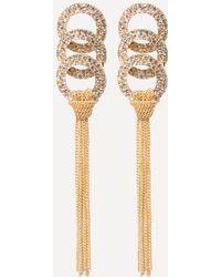 Bebe - Tassel Crystal Earrings - Lyst