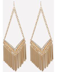 Bebe - Fringe Drop Earrings - Lyst