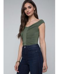 Bebe - Jersey Bodysuit - Lyst