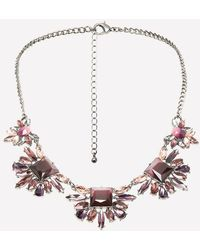 Bebe - Ombre Cluster Necklace - Lyst