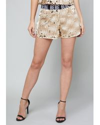 Bebe - Logo Sequin Boxer Shorts - Lyst