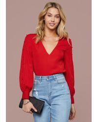 Bebe - Button Sleeve Bodysuit - Lyst