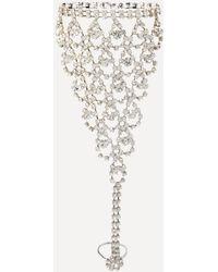 Bebe - Crystal Chain Hand Jewellery - Lyst