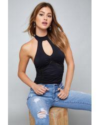 Bebe - Back Lace Bodysuit - Lyst