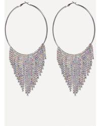 Bebe - Fringe Hoop Earrings - Lyst