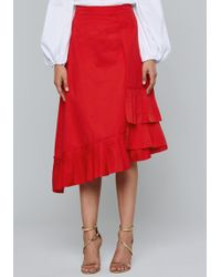 Bebe - Scarf Detail Skirt - Lyst